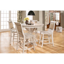 Willow Distressed White Round Counter Dining Set