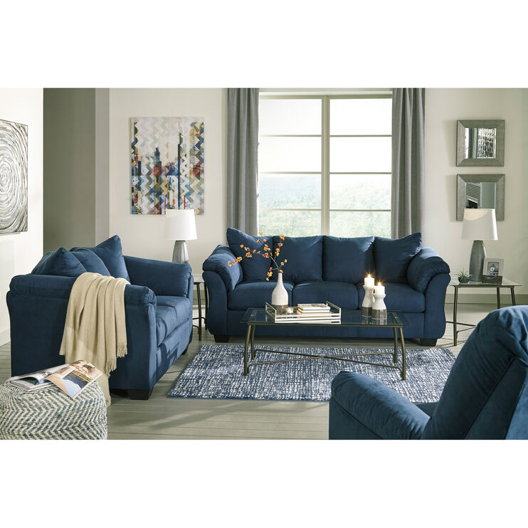 Marcy Blue Loveseat