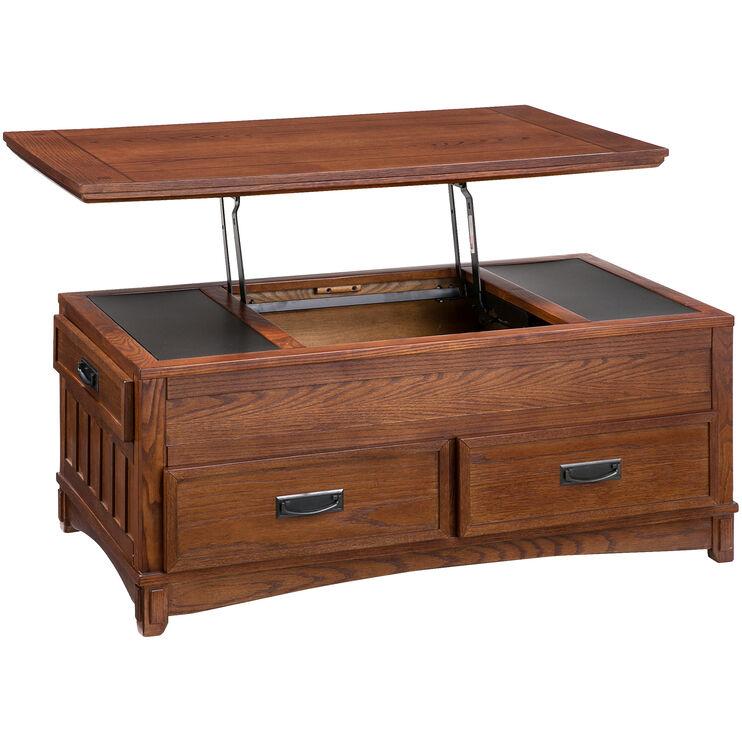 Cross Island Brown Lift Top Coffee Table