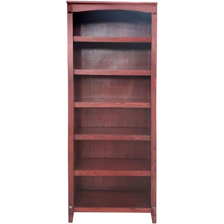 Hartford Burnished Oak 84 Inch Bookcase