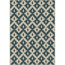 Veranda Tribal Trellis Blue 8 x 11 Rug