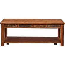 Evanston Antique Oak Rustic Coffee Table