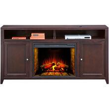 Lockwood 70 Inch Mocha Hiboy Fireplace Console