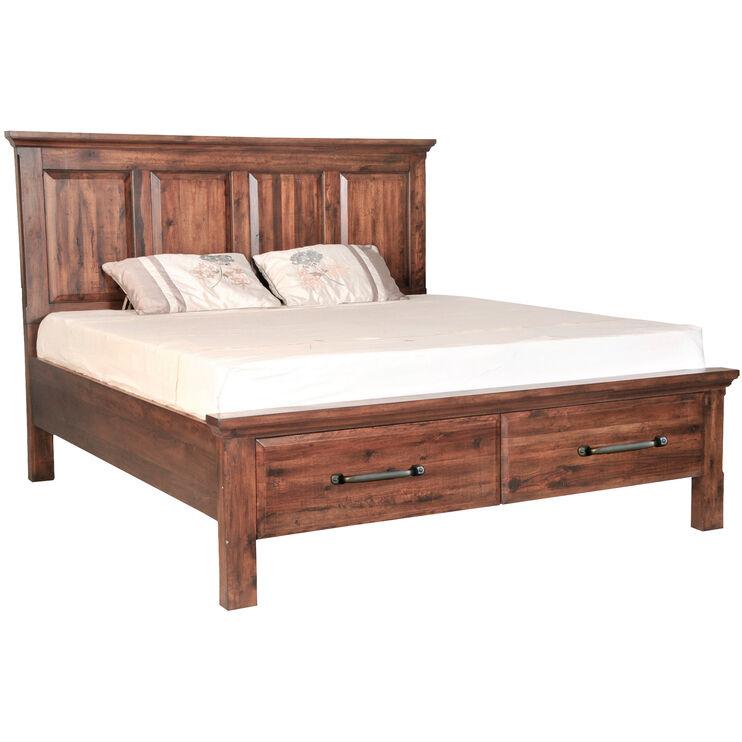 Hill Crest Dark Chestnut Queen Bed