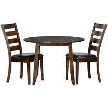Kona 3 Piece Raisin Drop Leaf Dining Set