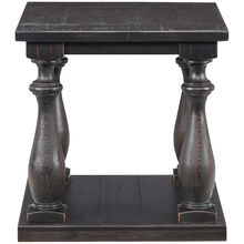 Mallacar Black Plank End Table