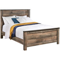 Trinell Rustic Plank Queen Panel Bed
