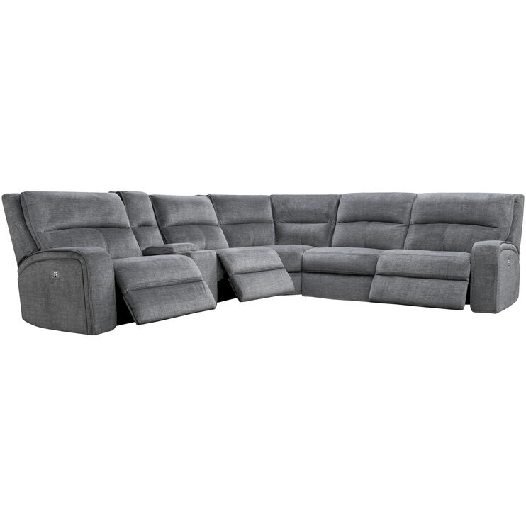 Cordova Charcoal Power+ 6Pc Sectional