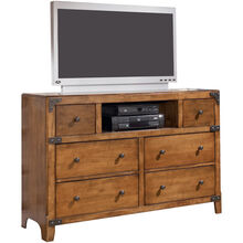 Delburne Brown Dresser