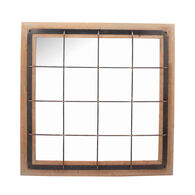 Farmhouse Grid Wall Mirror
