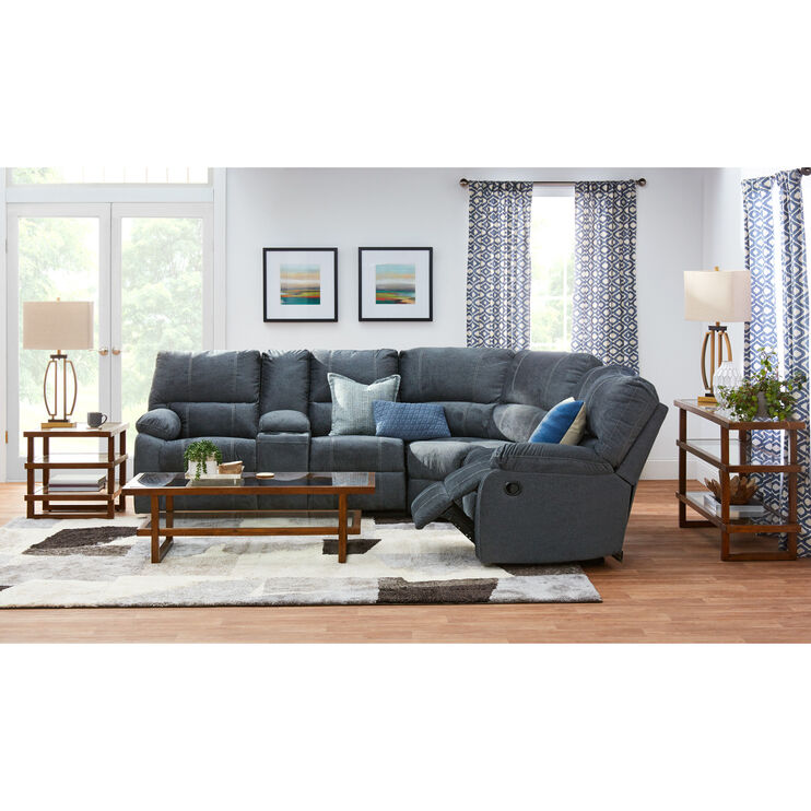 Bedford Charcoal 3 Piece Reclining Sectional