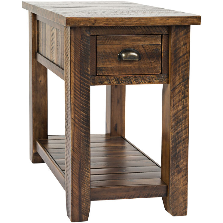 Artisans Craft Brown Chairside Table