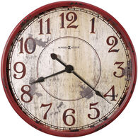 Back 40 Red and White Wall Clock