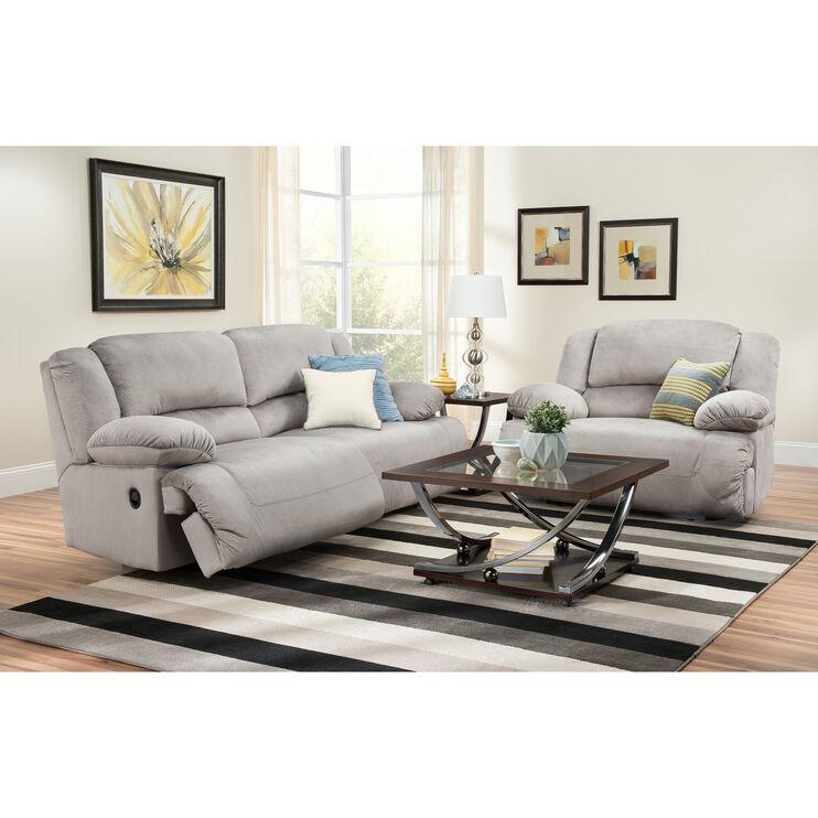 Slumberland Furniture Winston Granite Reclining Sofa