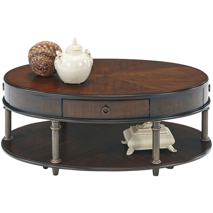 Regent Court Cherry Oval Coffee Table