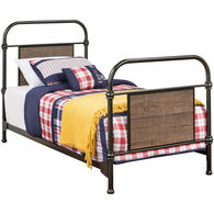 Trinell Metal Bed