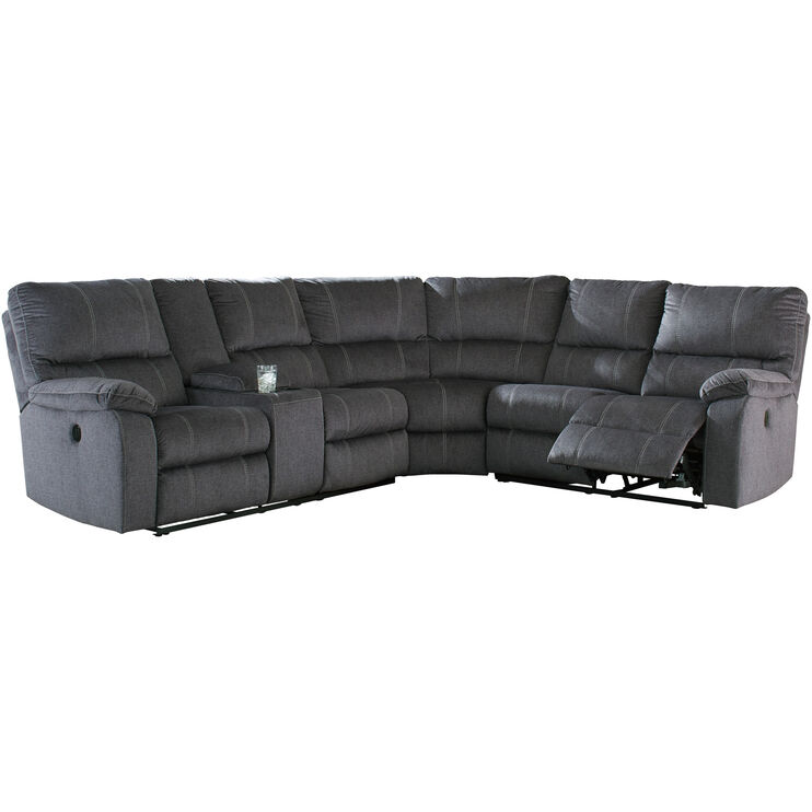 Bedford Charcoal 3 Piece Power Reclining Sectional