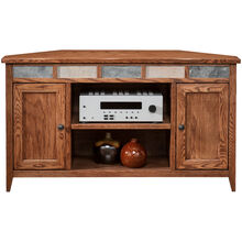 Evanston Antique Oak 50 Inch Corner Console