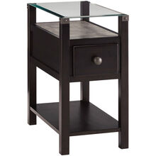 Diamenton Black Chairside End Table