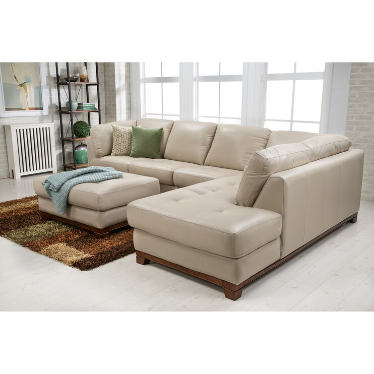 Slumberland Furniture Brooklyn Taupe Right Chaise Sectional