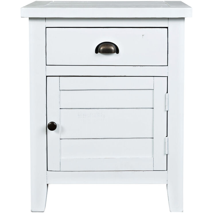 Artisans Craft White Accent Table