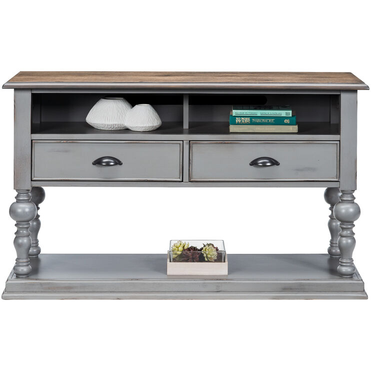 Colonnades Gray Console Table