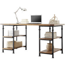 Ames Medium Brown Oak Desk