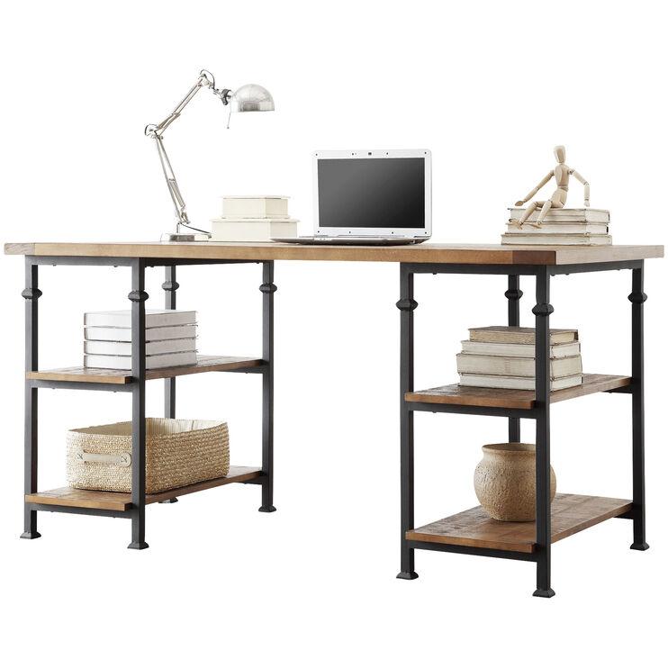 Ames Medium Brown Oak Desk