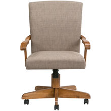 Jefferson Chestnut Arm Game Chair