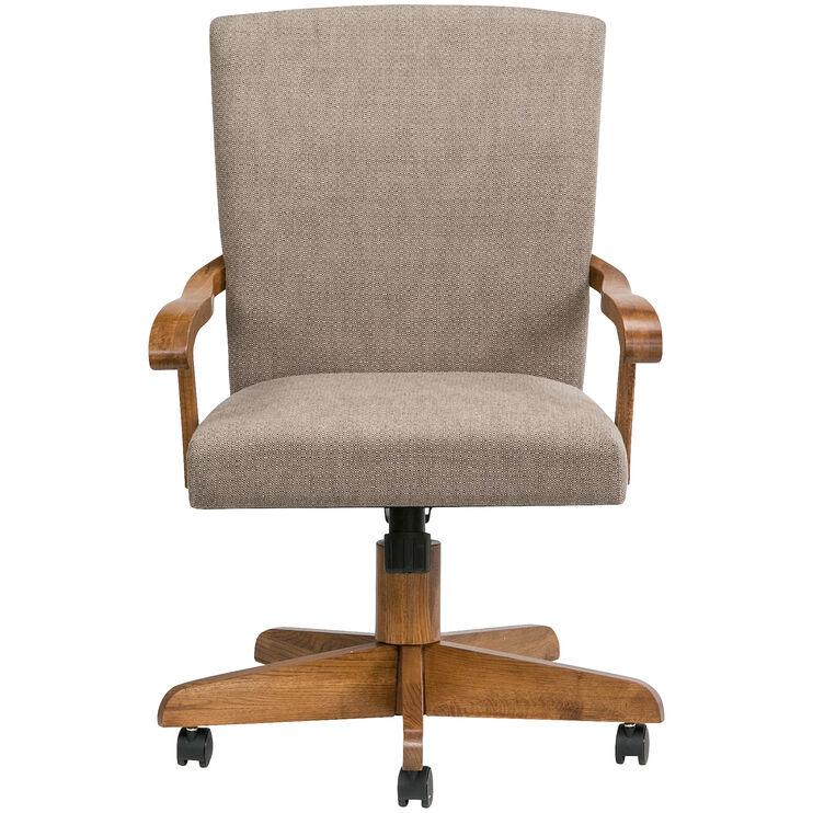 Jefferson Chestnut Arm Game Chair