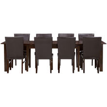 Kona Parson 9 Piece 130 Inch Raisin Dining Set