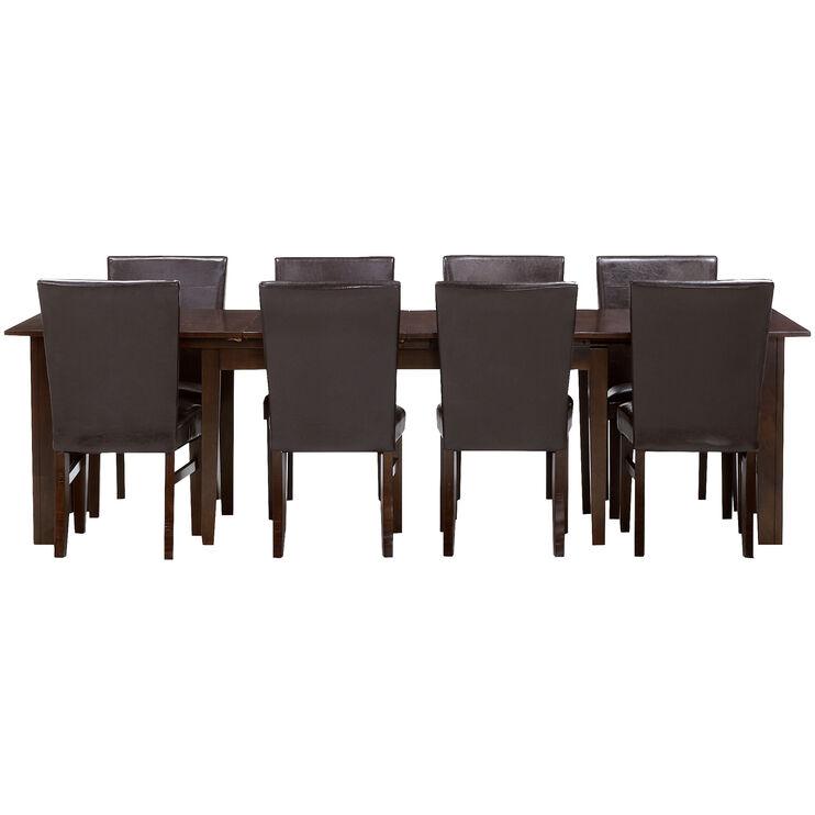 Kona Parson 9 Piece 130 Inch Raisin Dining Set