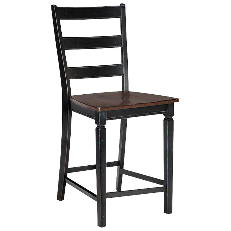 Glennwood Black Bar Stool