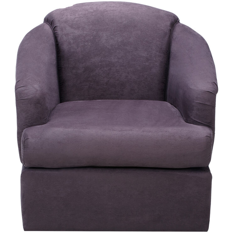 Cass Eggplant Swivel Chair