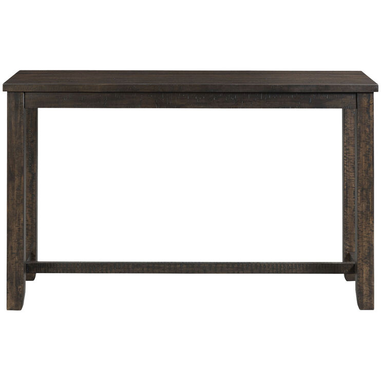 Stone Brown Bar Table with 3 Stools