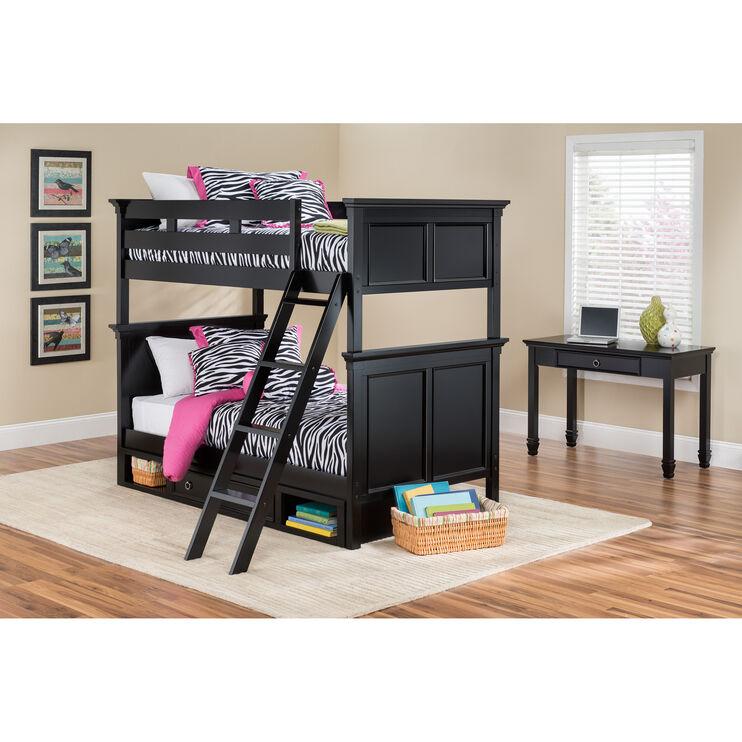 Persia Black Tw/Tw Bunk Bed w/Storage
