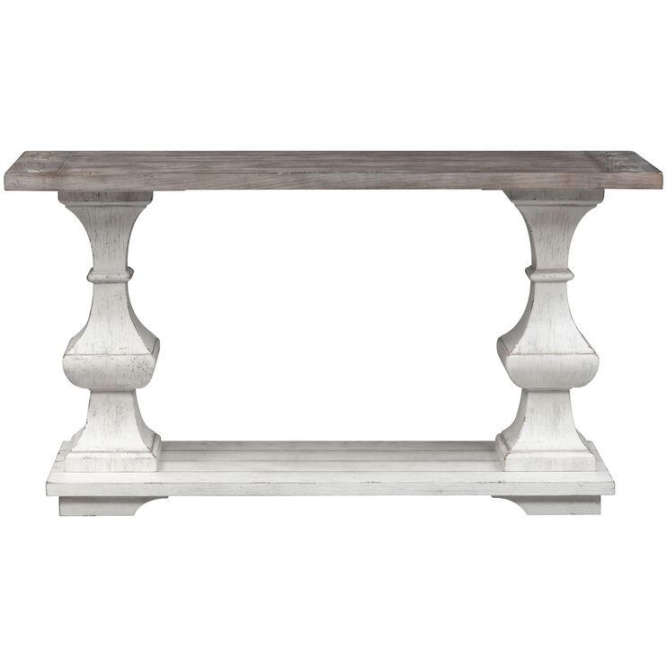 Sedona White Sofa Table