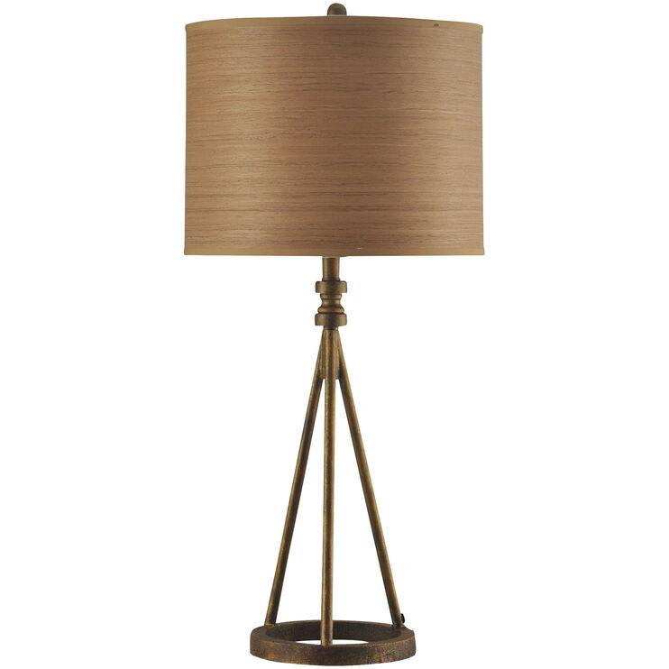 Millbrook Antique Brass Metal Table Lamp