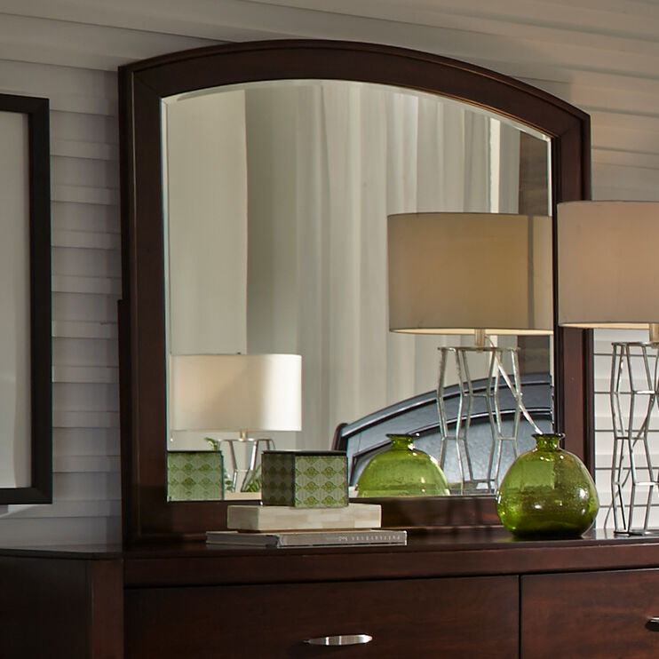Avalon Dark Brown Arched Mirror