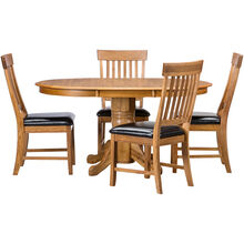 Jefferson 5 Piece Slat Back Pedestal Set