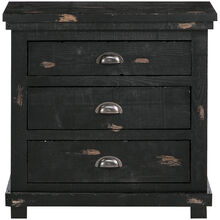 Willow Black Nightstand