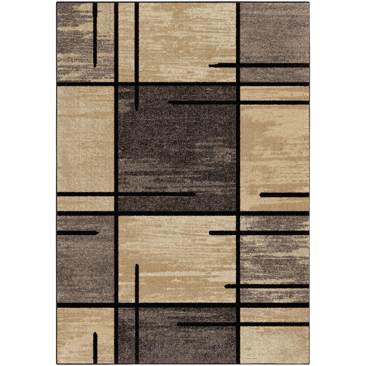 Heritage Armada Gray Blocks 5 x 8 Rug