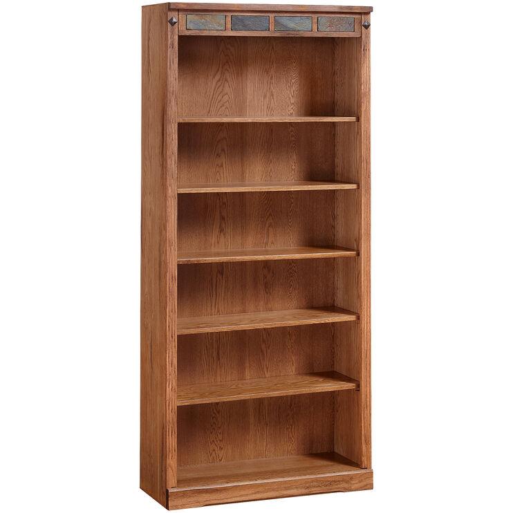 Sante Fe 72 Inch Rustic Oak Bookcase