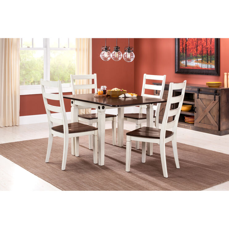 Glennwood 5Pc White Dining Set