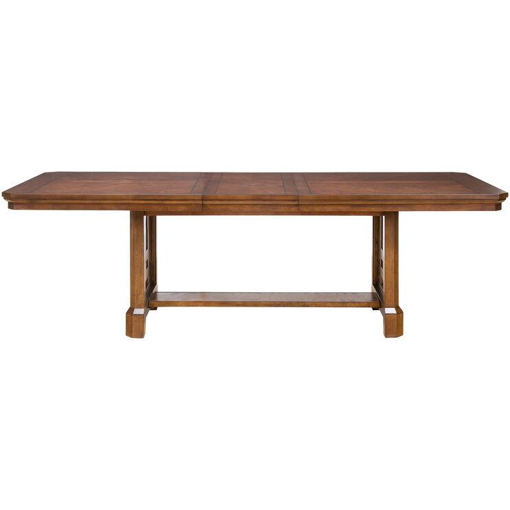 Estes Park Brown Oak Dining Table