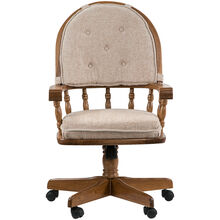 Jefferson Chestnut Curved Arm Game Chair