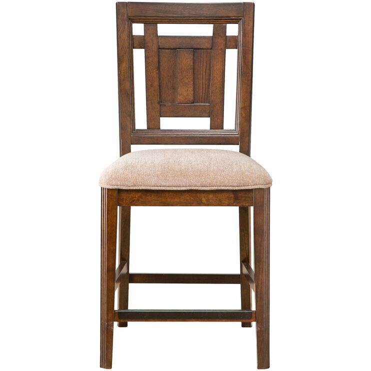 Estes Park Brown Oak Counter Stool