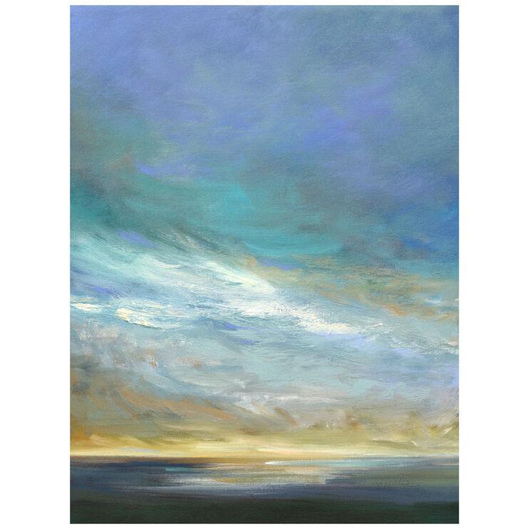 Coastal Clouds Triptych II Canvas Art