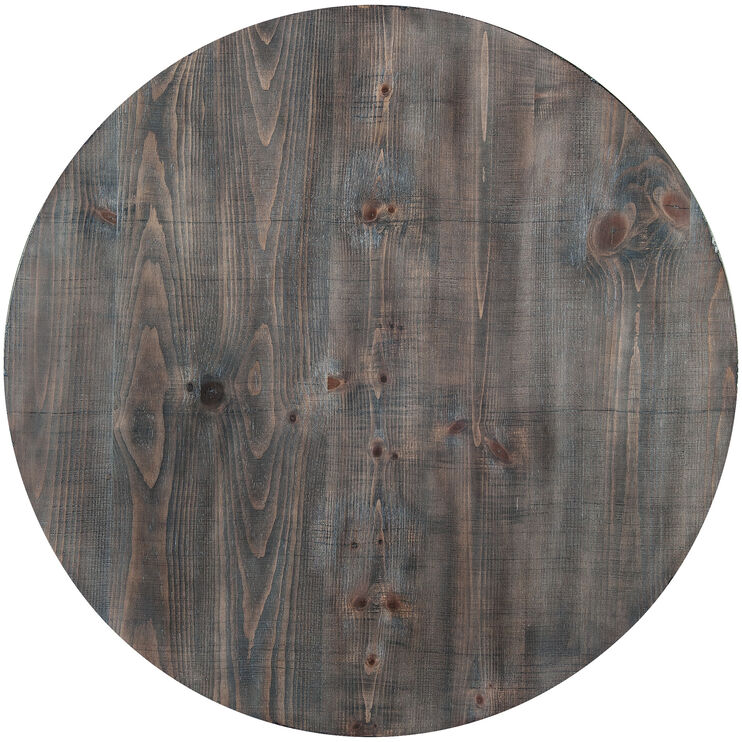 Willow Distressed Gray Round Counter Table
