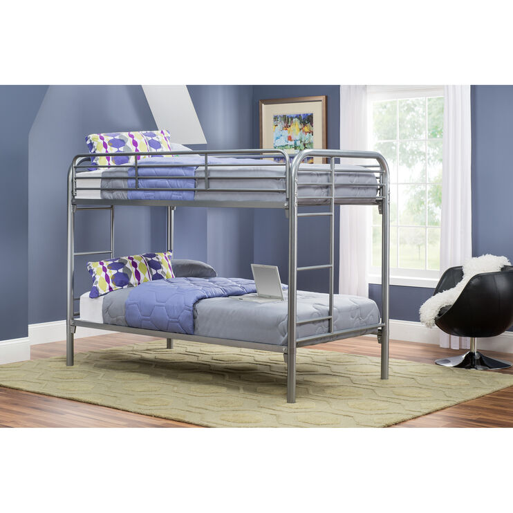 Joey Silver Twin over Twin Bunkbed